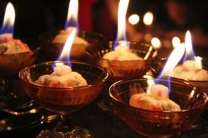 мороженое с огнем